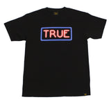 True Mens Neon T-Shirt Black