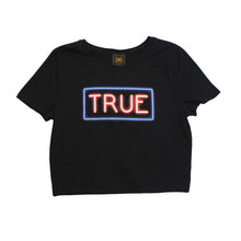 Load image into Gallery viewer, True Womens Neon Crop Top Black - Shop True Clothing