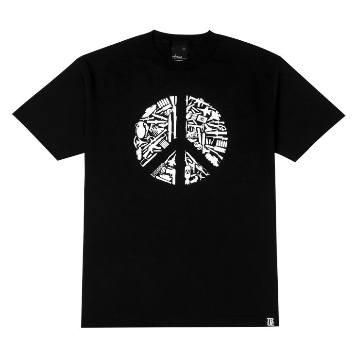 Mens True No Peace T-Shirt Black