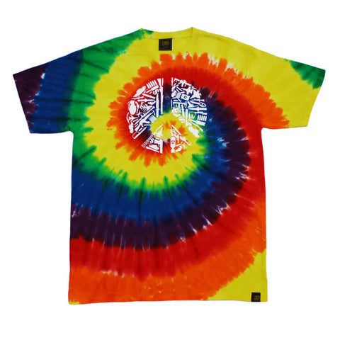 Mens True No Peace T-Shirt Tye Dye