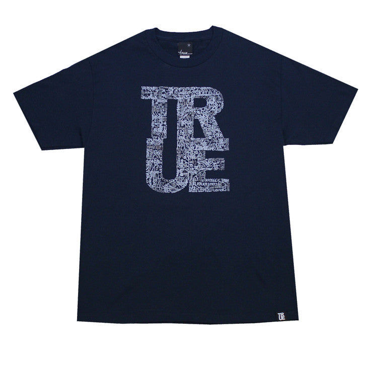Mens True NPR & Hip Hop T-Shirt Navy - Shop True Clothing