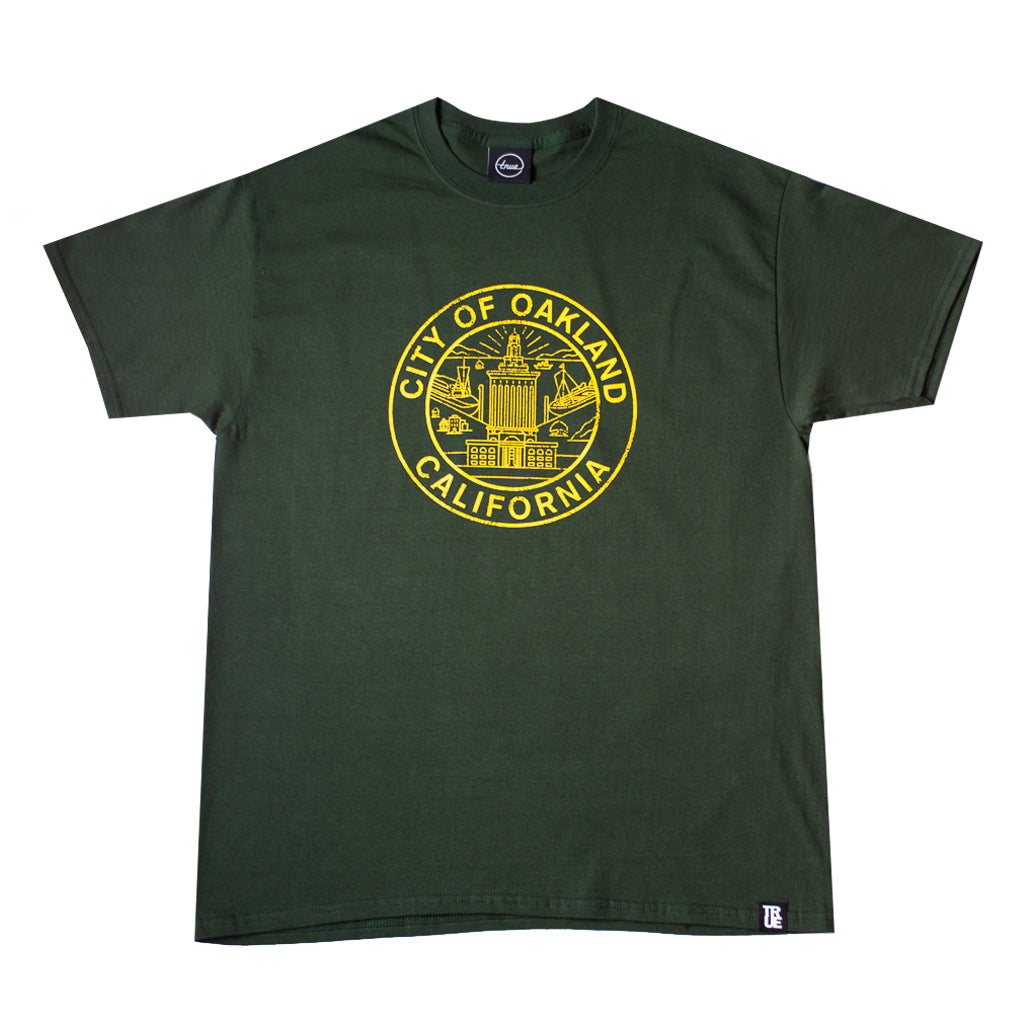 Mens True Oakland Seal T-Shirt Green
