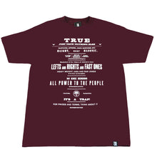 Load image into Gallery viewer, Mens True Old Ad T-Shirt Burgundy - Shop True Clothing
