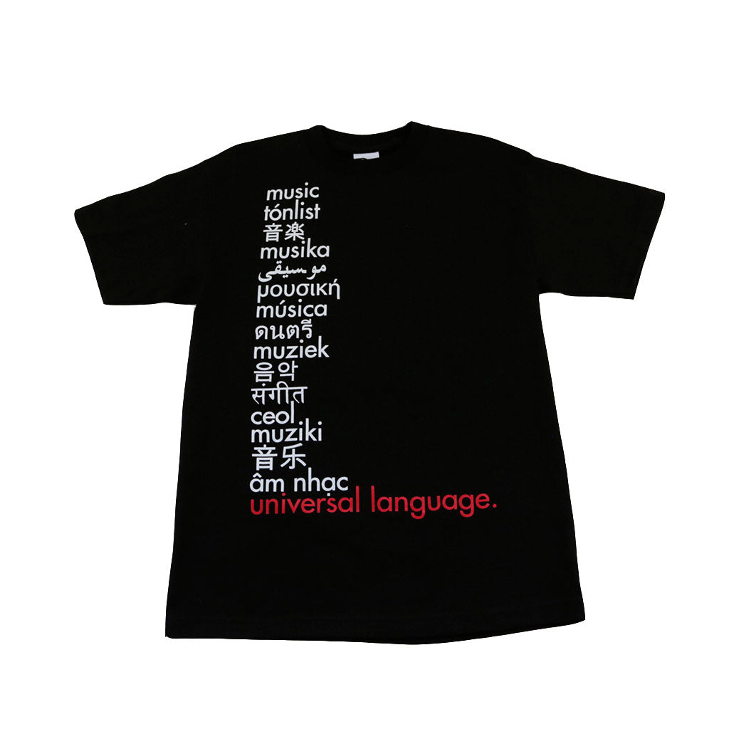 Ongaku Universal Language T-Shirt Black - Shop True Clothing
