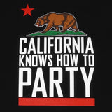 Mens Cali Party T-Shirt Black