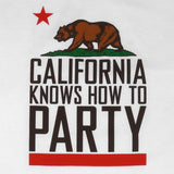 Mens Cali Party T-Shirt White