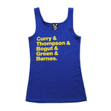 Thrill Of Victory Womens Pass The Ball Tank Top Royal