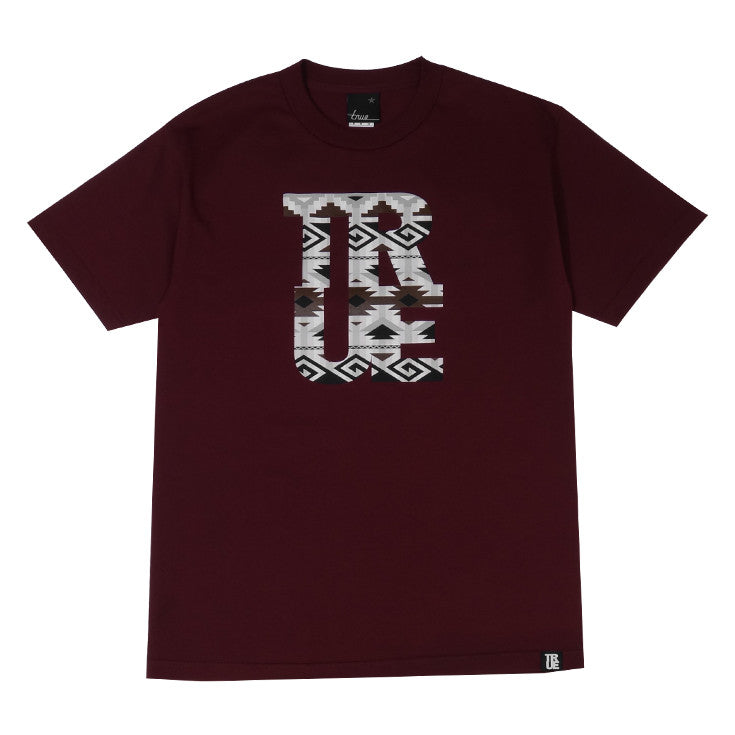 Mens True Patriot T-Shirt Burgundy - Shop True Clothing
