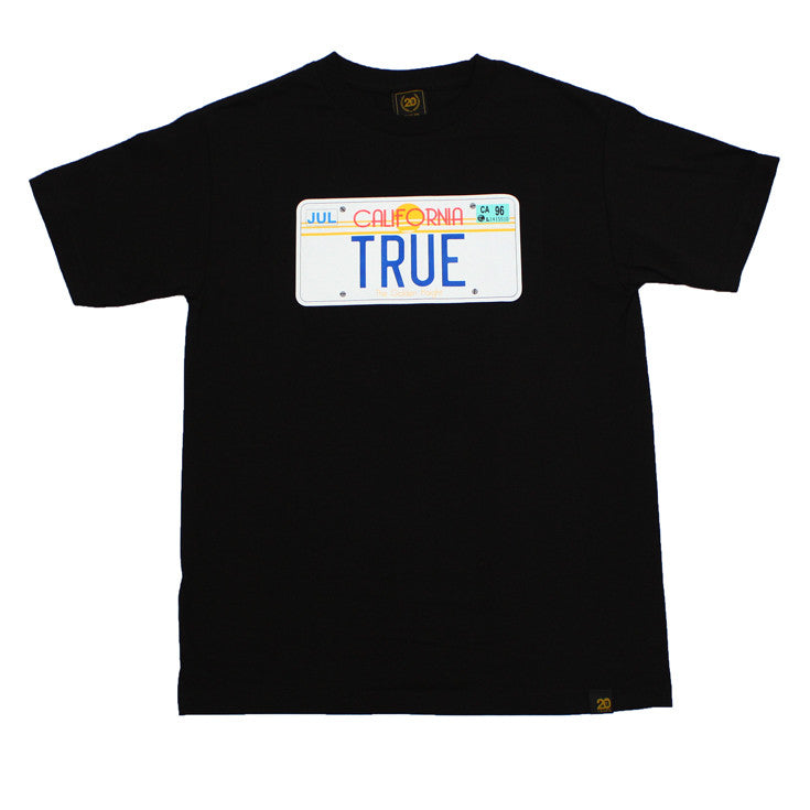 Mens True Plate T-Shirt Black - Shop True Clothing