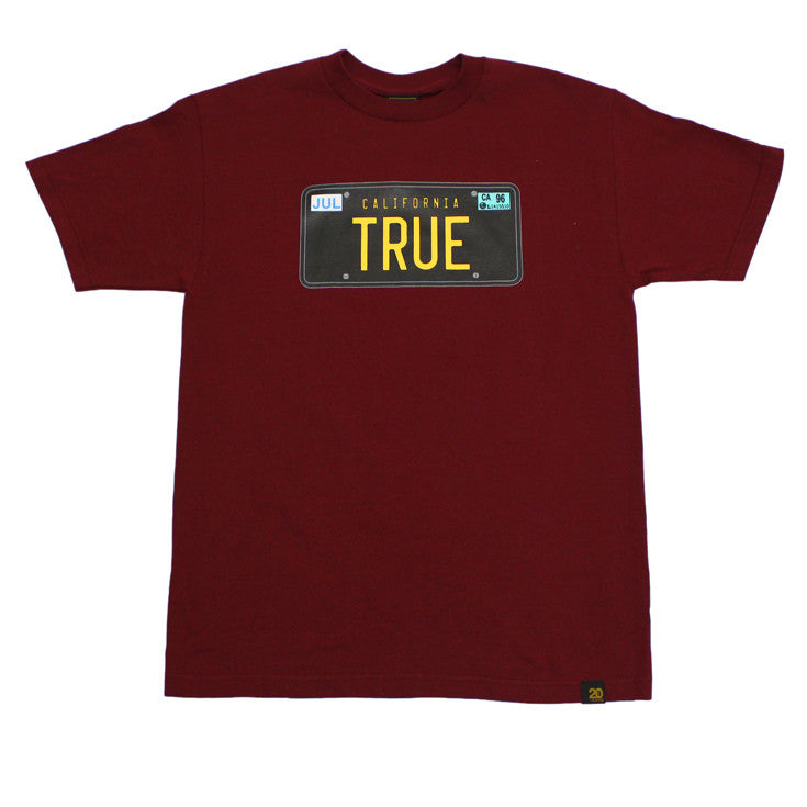 Mens True Plate T-Shirt Burgundy