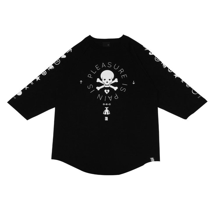Mens True Pleasure Pain Raglan T-Shirt Black - Shop True Clothing