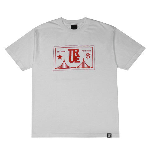 Mens True Por Vida T-Shirt White/Red - Shop True Clothing