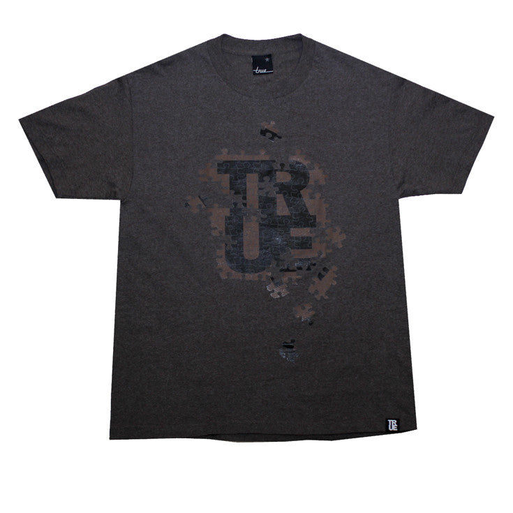 Mens True Puzzle T-Shirt Brown