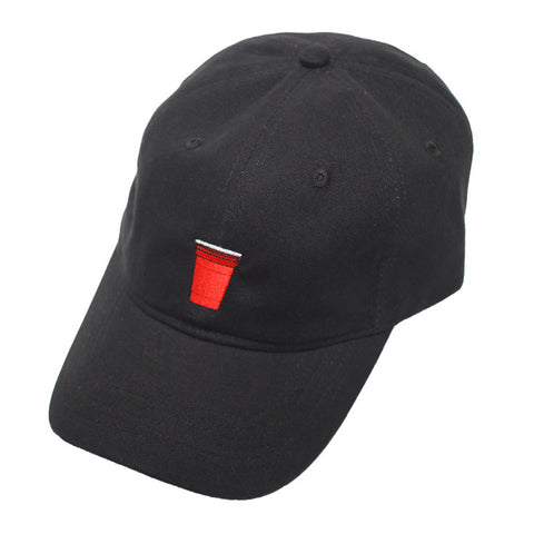 True Red Cup Dad Hat Black