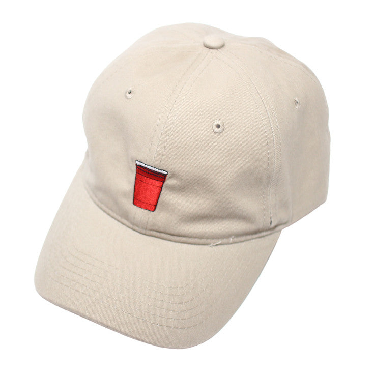 True Red Cup Dad Hat Tan