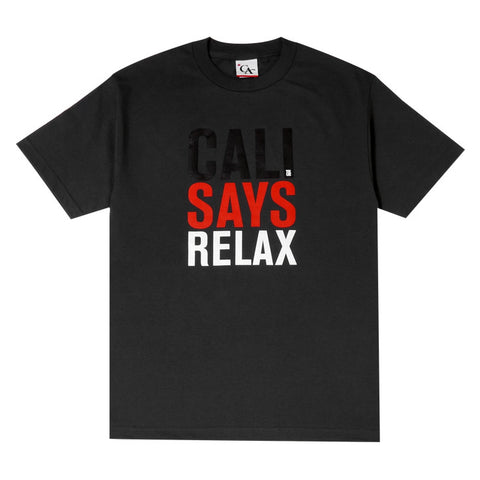 Mens Cali Relax T-Shirt Charcoal