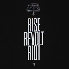 Load image into Gallery viewer, Mens True Rise Revolt Riot T-Shirt Black - Shop True Clothing