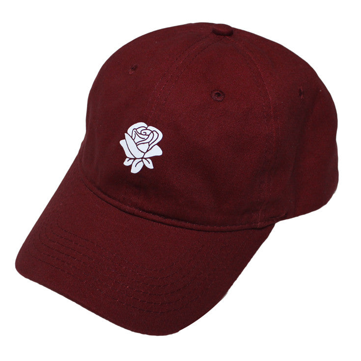True Rose Dad Hat Burgundy - Shop True Clothing