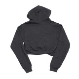 True Womens Rose Crop Hoodie Charcoal - Shop True Clothing