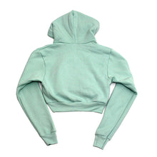 Load image into Gallery viewer, True Womens Rose Crop Hoodie Mint - Shop True Clothing