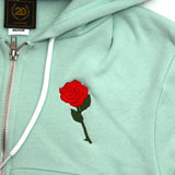 True Womens Rose Crop Hoodie Mint - Shop True Clothing