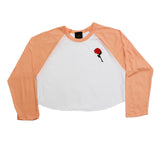 True Womens Rose Cropped Raglan Peach