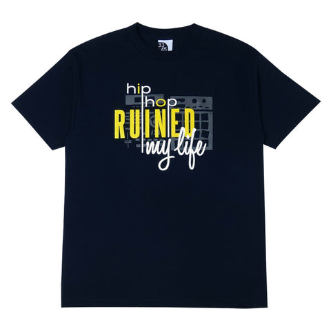 Mens Ongaku Ruined T-Shirt Navy