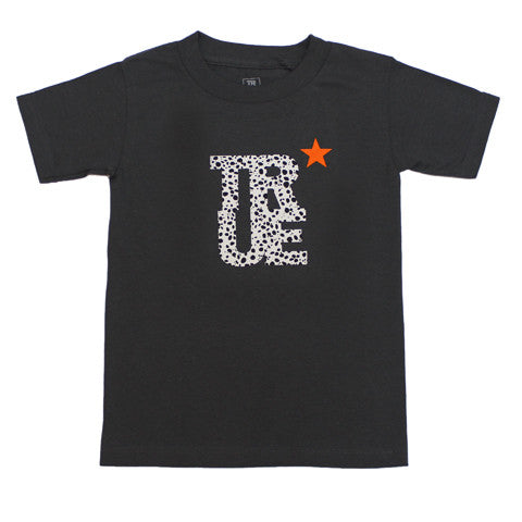 Kids True Logo Star T-Shirt Charcoal