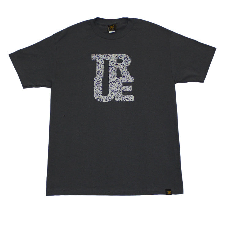 Mens True Logo Safari T-Shirt Charcoal - Shop True Clothing