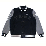 True Mens School Daze Varsity Jacket Black