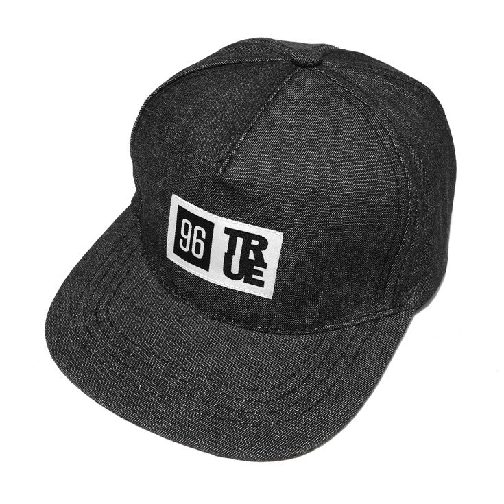 True 96 Strapback Cap Black