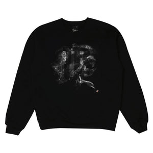 Mens True Smoke Crewneck Sweatshirt Black - Shop True Clothing