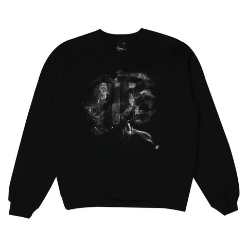 Mens True Smoke Crewneck Sweatshirt Black