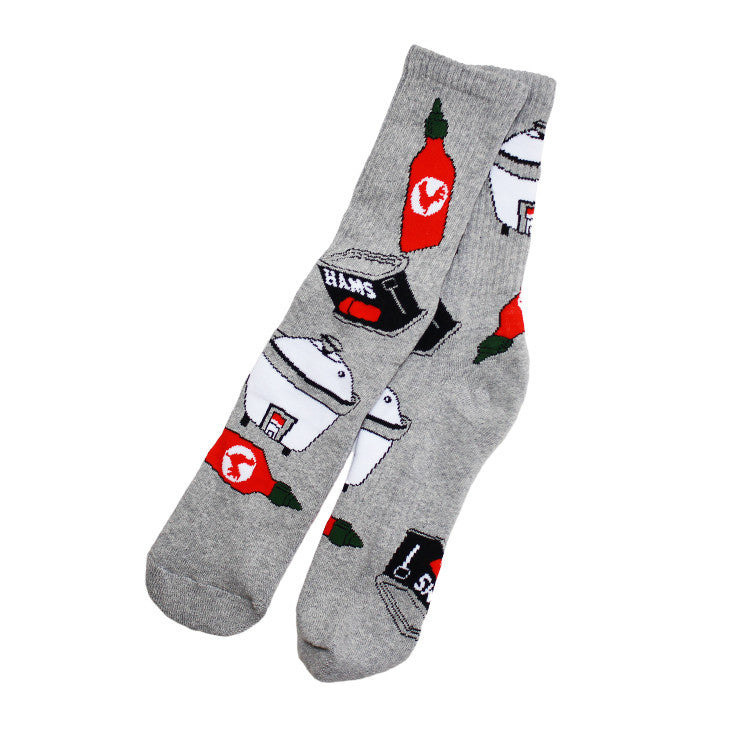 Spam Socks Grey - Shop True Clothing