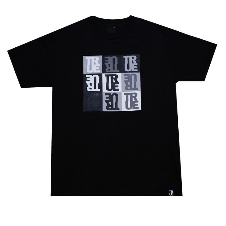 Mens True Squares T-Shirt Black
