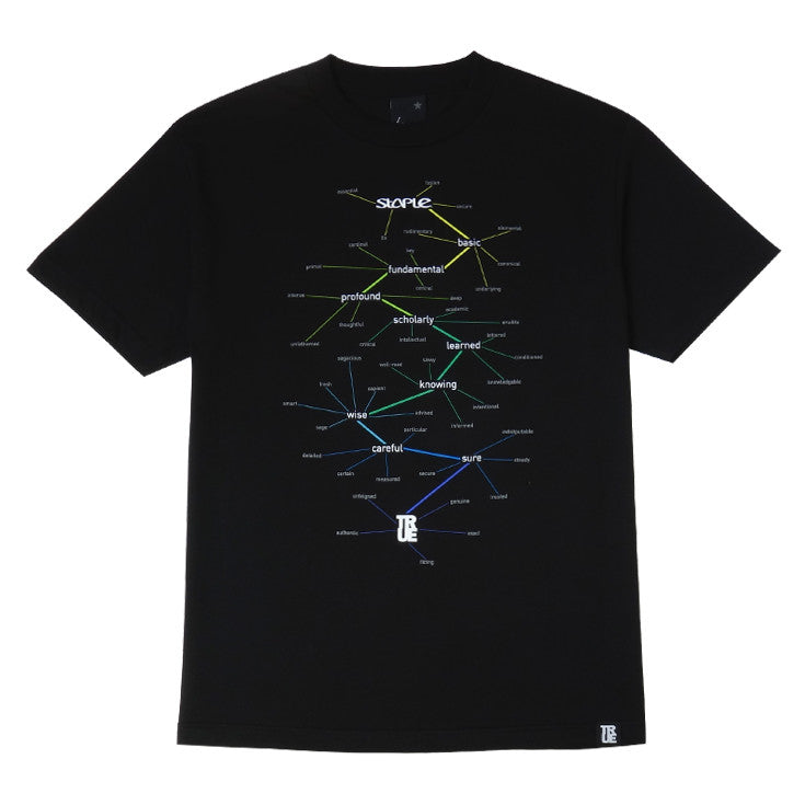 Mens True x Staple T-Shirt Black