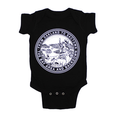 Kids True State Seal One Piece Black
