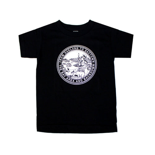 Kids True State Seal T-Shirt Black - Shop True Clothing