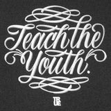 Mens True Teach The Youth T-Shirt Charcoal - Shop True Clothing