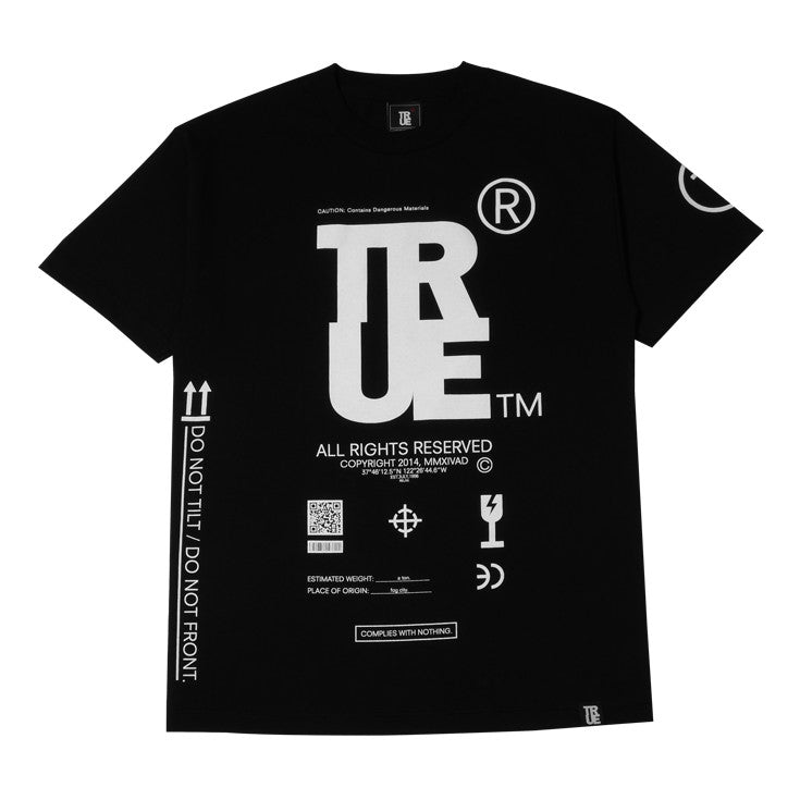 Mens True This Side Up T-Shirt Black