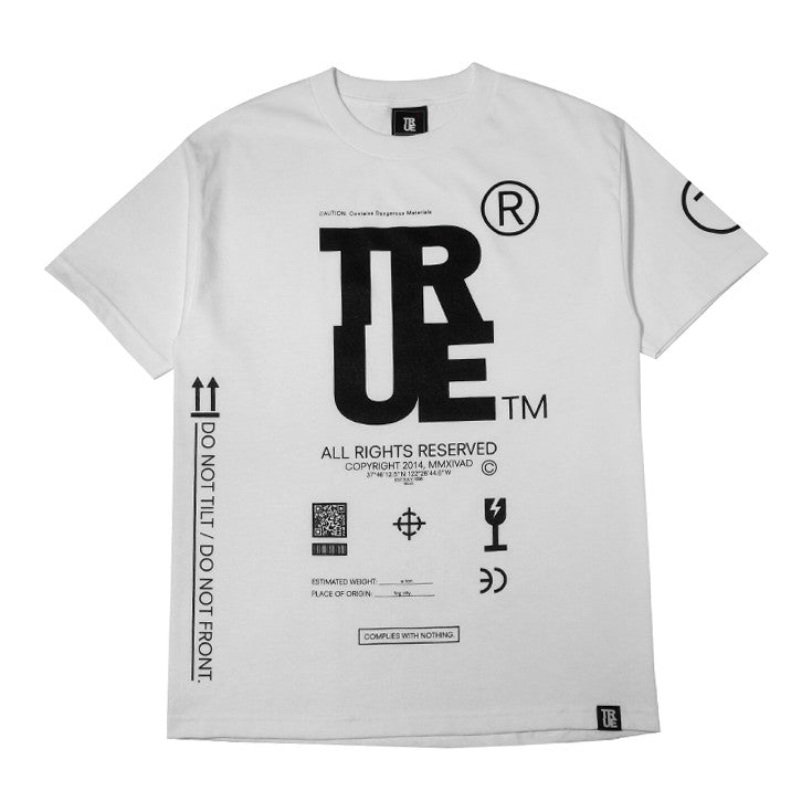 Mens True This Side Up T-Shirt White