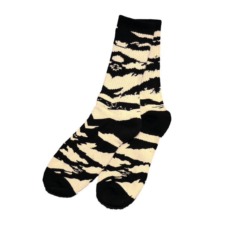 Tiger Camo Socks Natural/Black - Shop True Clothing