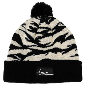 True Tiger Camo Pom Beanie Natural - Shop True Clothing