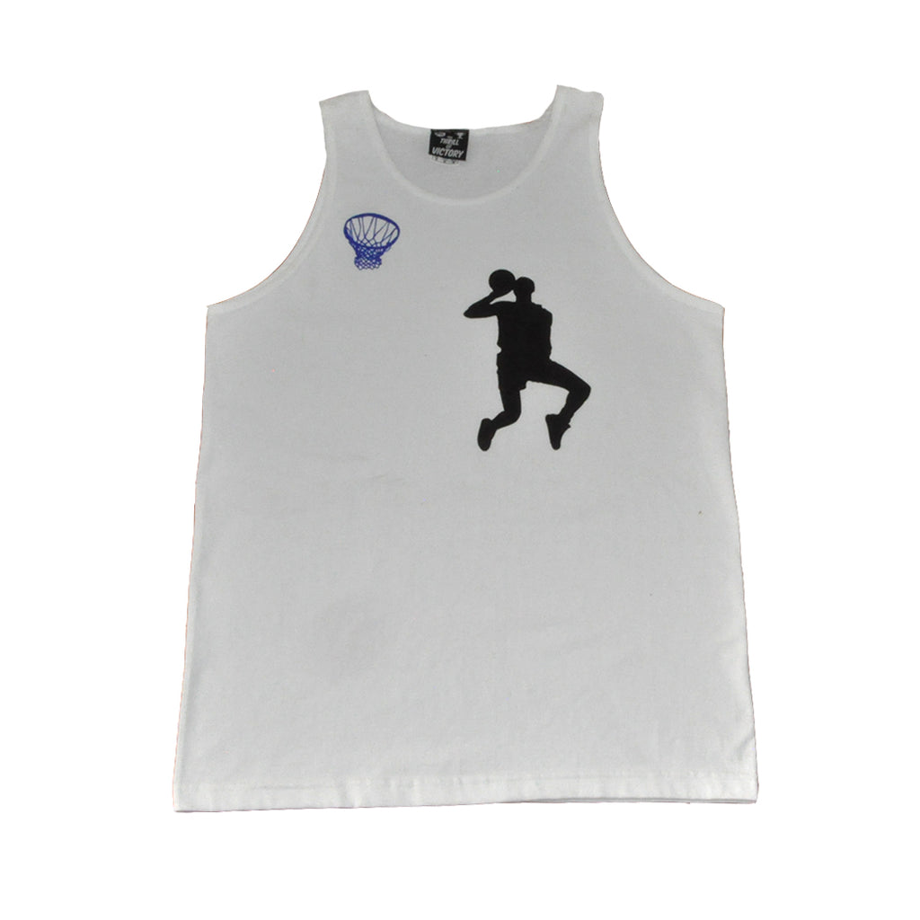 Thrill of Victory Mens Hangtime Tank Top White - Shop True Clothing