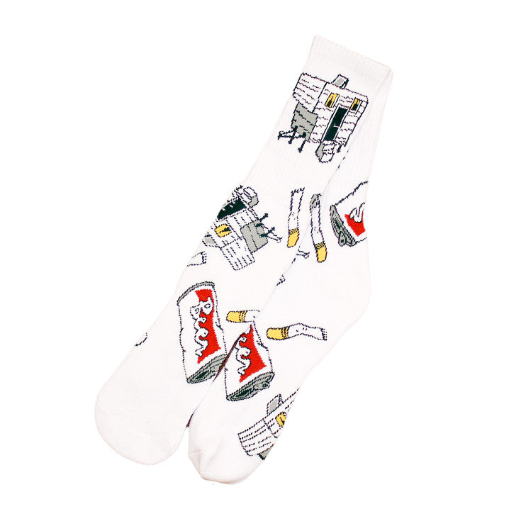 Trailer Socks White - Shop True Clothing