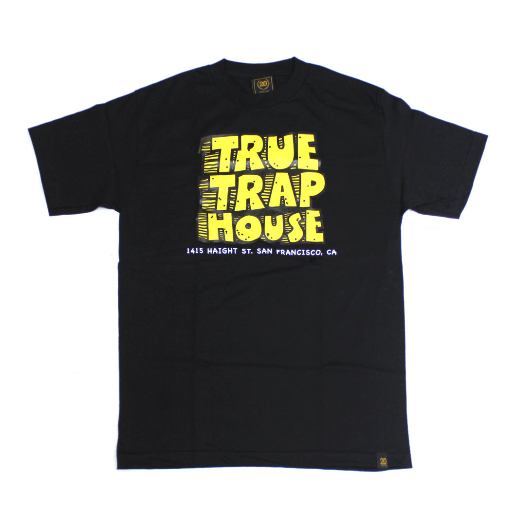 Mens True Trap House T-Shirt Black - Shop True Clothing