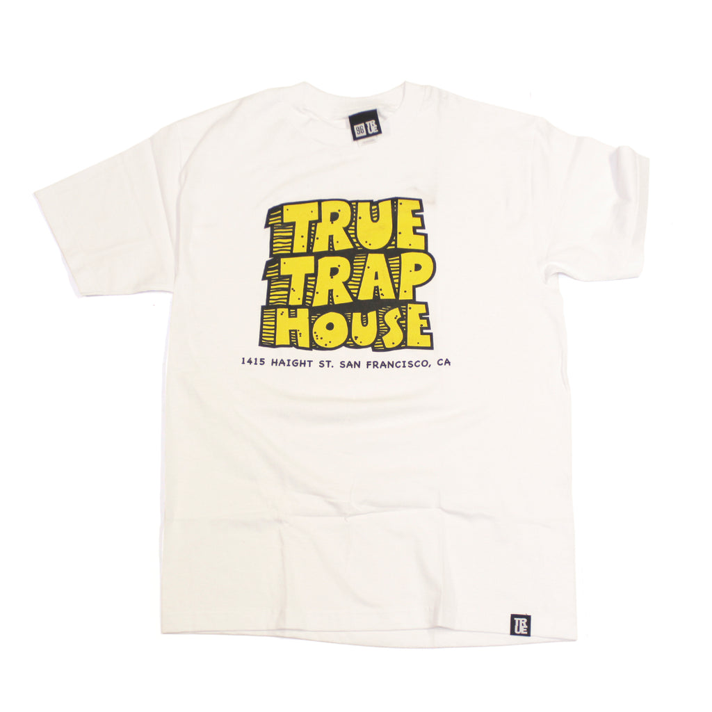 Mens True Trap House T-Shirt White - Shop True Clothing