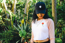 Load image into Gallery viewer, True Womens Rose Cropped Raglan Peach - Shop True Clothing