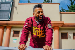 Mens True Interlocked Hoodie Maroon - Shop True Clothing