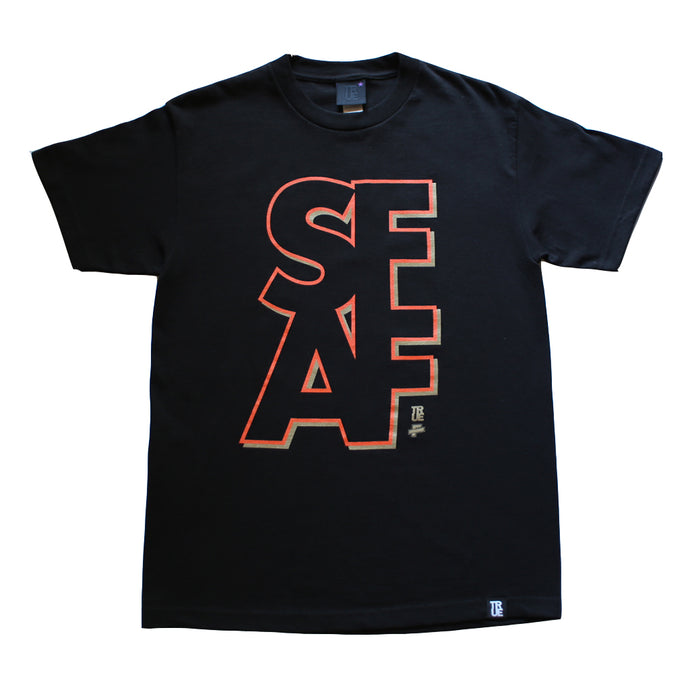 Mens True x The F-word S.F.A.F T-Shirt Black